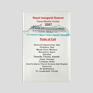 Royal Inaugural TA 2007 Rectangle Magnet