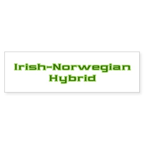 Irish Norwegian Hybrid Bumper Sticker