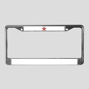Obama Communist Star License Plate Frame