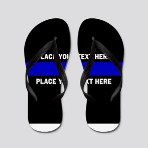 Thin Blue Line Customized Flip Flops