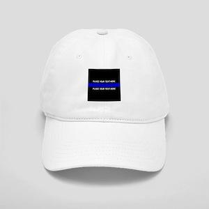 Thin Blue Line Customized Cap