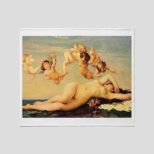 Birth of Venus Throw Blanket