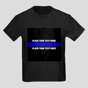 Thin Blue Line Customized Kids Dark T-Shirt