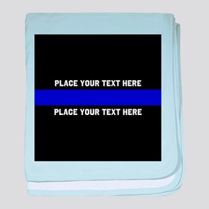 Thin Blue Line Customized baby blanket