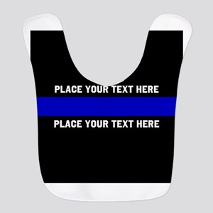Thin Blue Line Customized Polyester Baby Bib