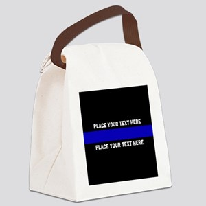 Thin Blue Line Customized Canvas Lunch Bag