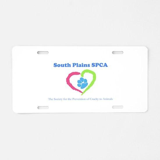 South Plains SPCA Logo Aluminum License Plate
