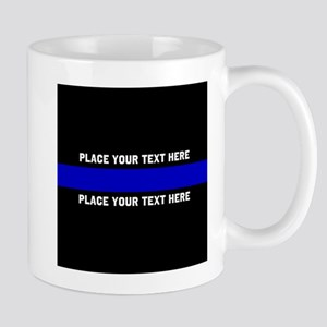 Thin Blue Line Customized 11 oz Ceramic Mug