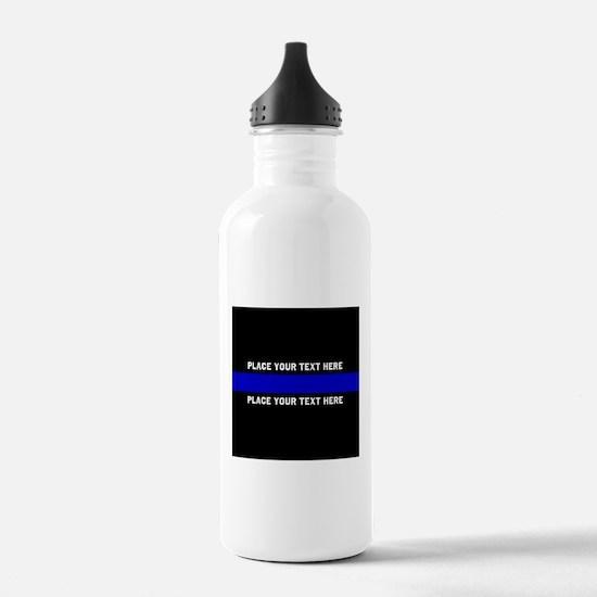 Thin Blue Line Customi Water Bottle