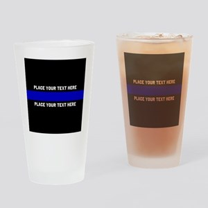 Thin Blue Line Customized Drinking Glass