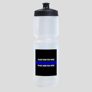 Thin Blue Line Customized Sports Bottle