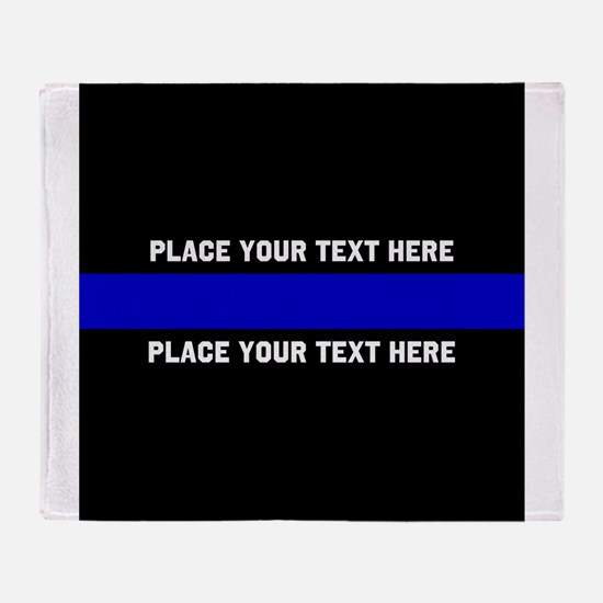 Thin Blue Line Customized Throw Blanket