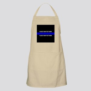 Thin Blue Line Customized Light Apron