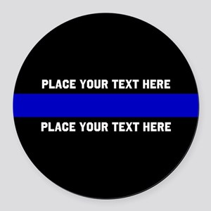 Thin Blue Line Customized Round Car Magnet