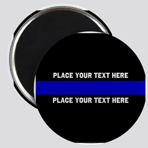 Thin Blue Line Customized Magnet