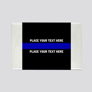 Thin Blue Line Customized Rectangle Magnet