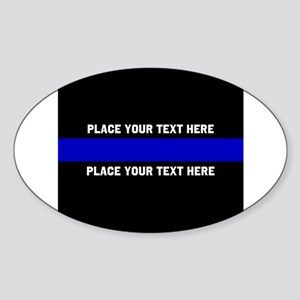 Thin Blue Line Customized Sticker (Oval)