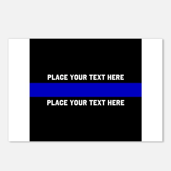 Thin Blue Line Customized Postcards (Package of 8)