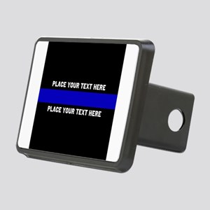 Thin Blue Line Customized Rectangular Hitch Cover