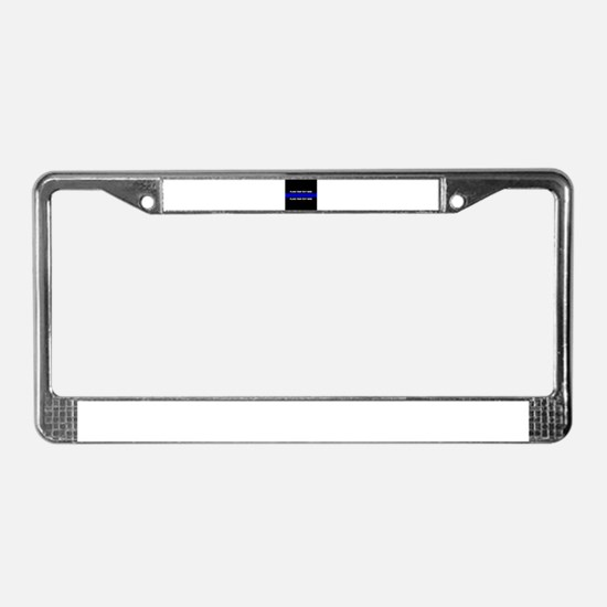 Thin Blue Line Customized License Plate Frame