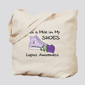 Walk a Mile in My Shoes Lupus Tote Bag