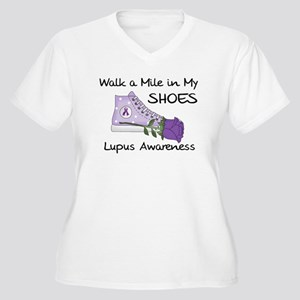 Walk a Mile in My Shoes Lupus Women's Plus Size V-