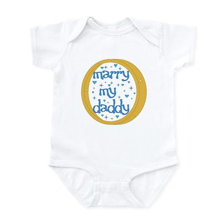 """Marry my Daddy"" Baby Boy Infant Creeper"