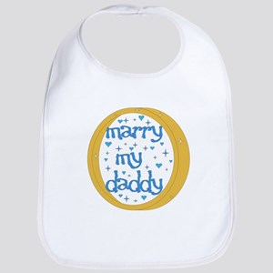 """Marry my Daddy"" Baby Boy Bib"