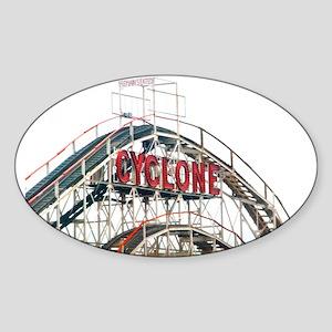 Coney Island: Cyclone Sticker (Oval)