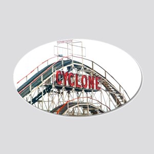 Coney Island: Cyclone 22x14 Oval Wall Peel