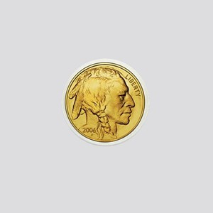 Gold Indian Head Mini Button