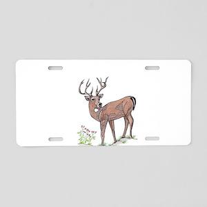 the deer Aluminum License Plate