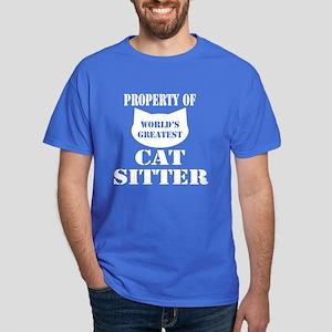 World's Greatest Cat Sitter Dark T-Shirt