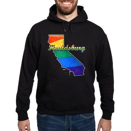 Healdsburg, California. Gay Pride Hoodie (dark)