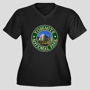 Yosemite Nat Park Design 1 Women's Plus Size V-Nec