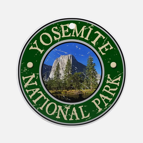 Yosemite Nat Park Design 1 Ornament (Round)