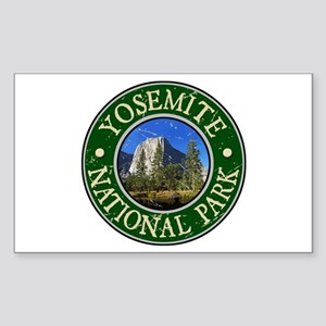 Yosemite Nat Park Design 1 Sticker (Rectangle)