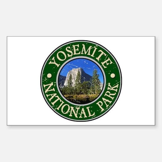 Yosemite Nat Park Design 1 Sticker (Rectangle)