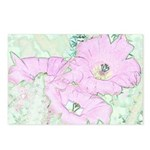Pink Cactus Flowers Postcards (Package of 8)