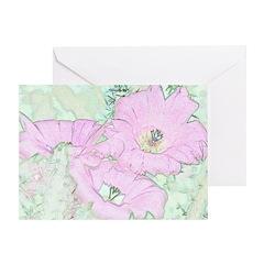 Pink Cactus Flowers Greeting Card