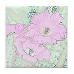Pink Cactus Flowers Tile Coaster