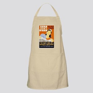 Jobs For Girls WPA Poster Apron