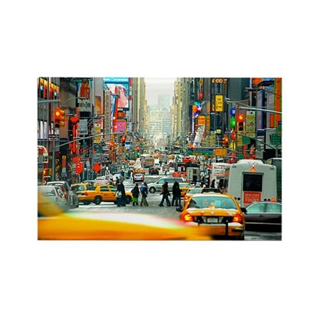 Times Square: No. 10 Rectangle Magnet (10 pack)