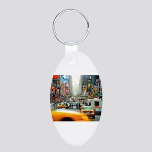 Times Square: No. 10 Aluminum Oval Keychain