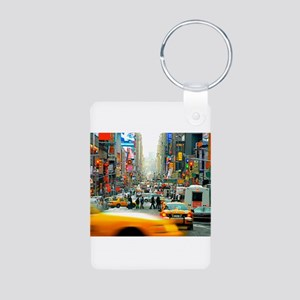 Times Square: No. 10 Aluminum Photo Keychain