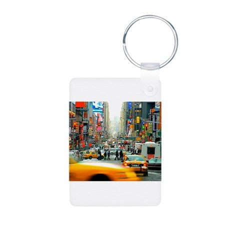 Times Square: No. 10 Aluminum Photo Keychain