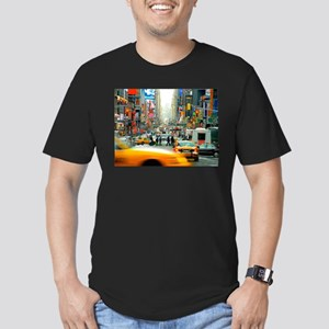 Times Square: No. 10 Men's Fitted T-Shirt (dark)