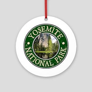 Yosemite Nat Park Design 2 Ornament (Round)