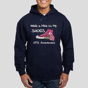 Walk a Mile in My Shoes Hoodie (dark)