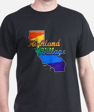 Highland Village, California. Gay Pride T-Shirt